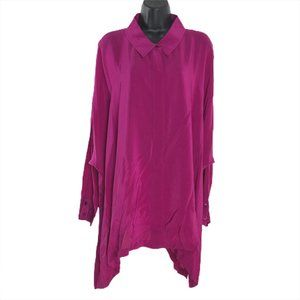 Eileen Fisher Oversized Tunic Shirt Button Front